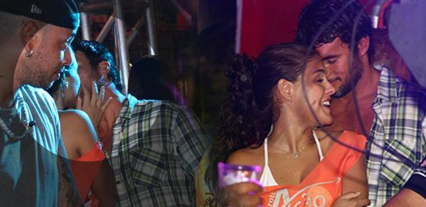 Paloma Bernardi e Daniel Bueno se beijam em camarote do Carnaval de Salvador (5/3/2011)