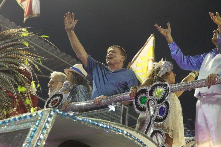 José Bonifácio de Oliveira Sobrinho, o Boni, desfilou em carro alegórico da Beija-Flor. Escola fechou os desfiles do Grupo Especial do Rio de Janeiro (07/03/2011)