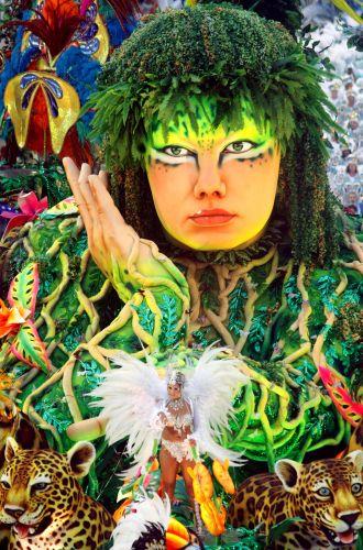 Alegoria da Beija-Flor. Escola, que apresentou o samba-enredo