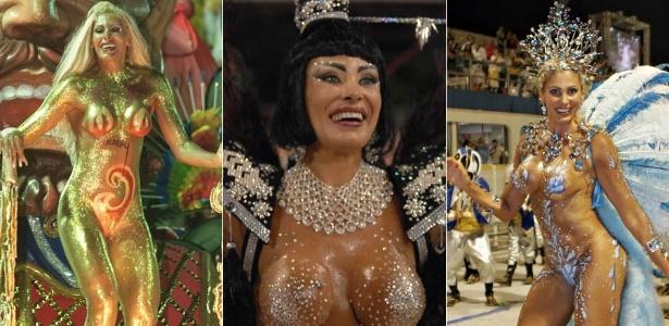 Ângela Bismarchi em 3 momentos: em desfiles de 2001, 2007 e 2009