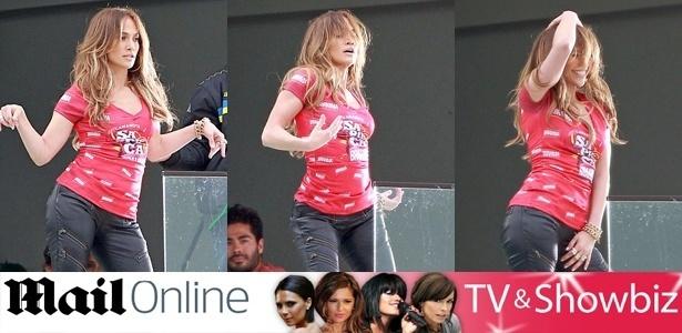 Fotos divulgadas pelo jornal britânico Daily Mail de Jennifer Lopez usando a camiseta do camarote Brahma