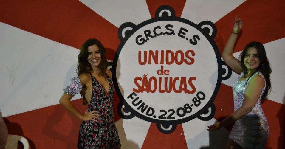 A atriz Sophia Reis, musa da Unidos de São Lucas, participou nesta terça-feira (24/01/12) do evento