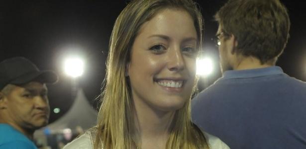 Fabiana Justus participou de ensaio técnico da Rosas de Ouro no sambódromo do Anhembi (30/01/12)