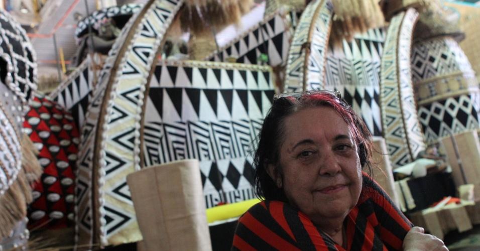 A carnavalesca Rosa Magalhães, em seu segundo ano consecutivo na Vila Isabel (10/2/12)