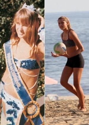 Xuxa no Carnaval de 1976 e a filha Sasha; semelhança