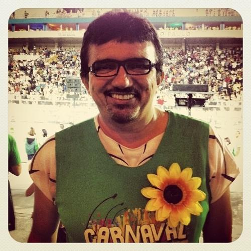 Falcão no camarote do Carnaval de São Paulo, na madrugada de sábado (18/2/12)