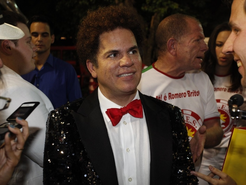 Romero Britto na concentrao da Renascer de Jacarepagu na Sapuca, no Rio. O artista ser homenageado pela escola (19/2/12)