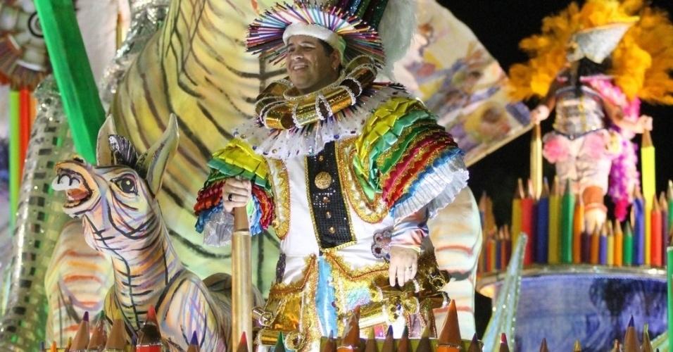 Leandro Hassum, humorista, é o personagem Sancho Pança no desfile em homenagem a Candido Portinari (20/2/2012)