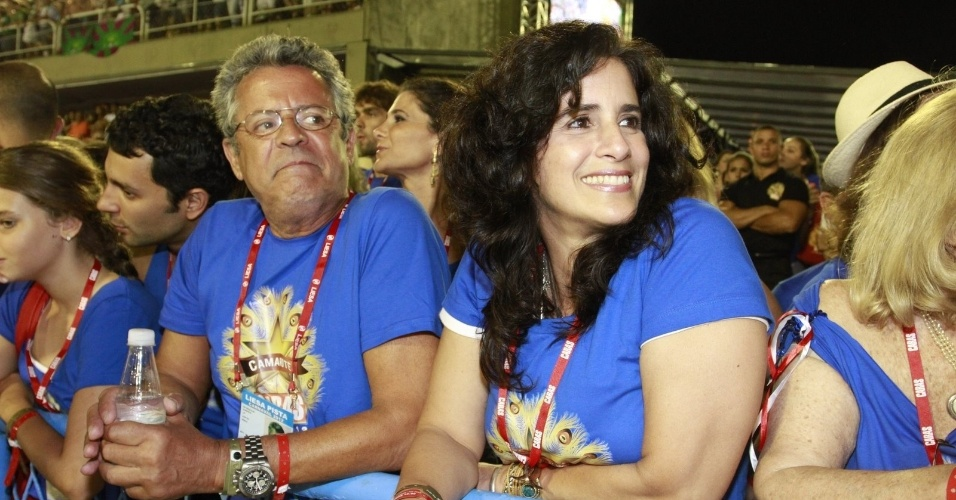 Marcos Paulo e Lúcia Veríssimo curtindo o Carnaval na Sapucaí (20/2/12)