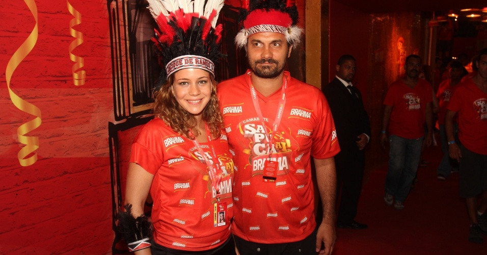 A atriz Leandra Leal e o namorado, Alexandre Youssef