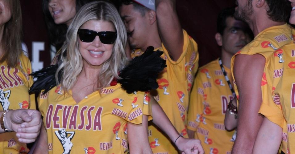 Fergie se apresenta no camarote da Devassa no sambódromo do Rio (21/2/12)