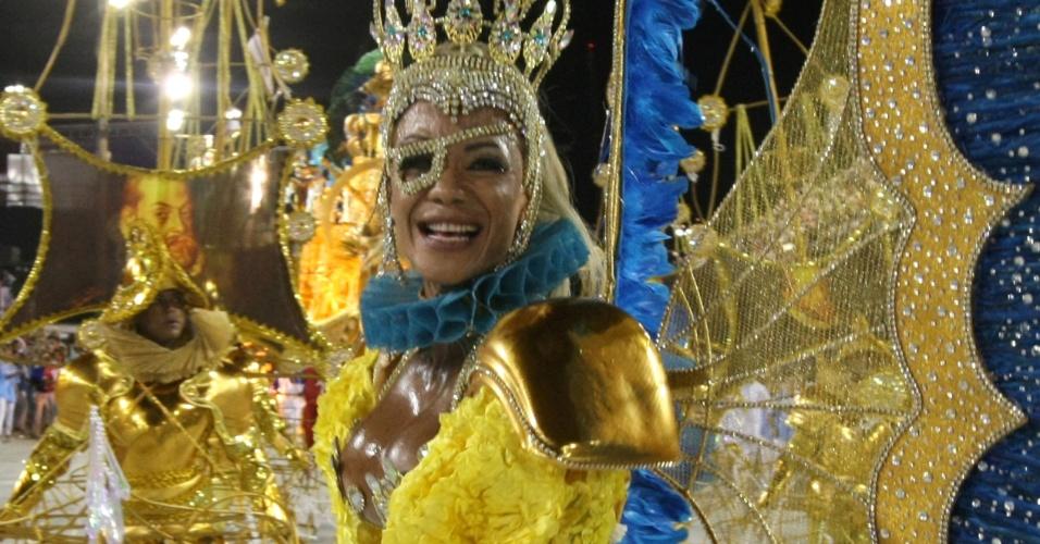 Rose Barreto, Rainha Pirata, desfila na União da Ilha do Governador (20/2/12)