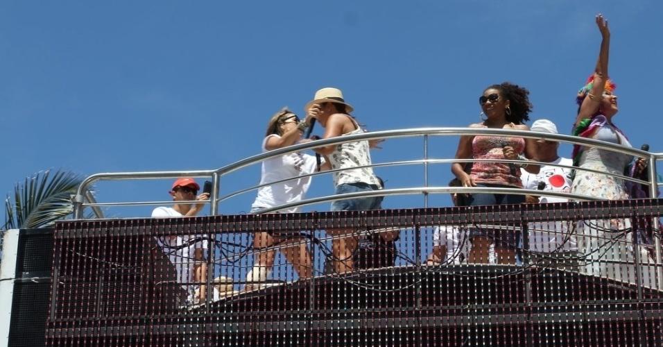 Claudia Leitte, Ivete Sangalo, Margareth Menezes e Fafá de Belém agitam foliões no último dia de Carnaval em Salvador, Bahia (22/2/12)