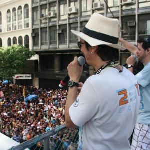 O grupo Monobloco durante apresentação no Carnaval 2012 na Avenida Rio Branco na região central no Rio