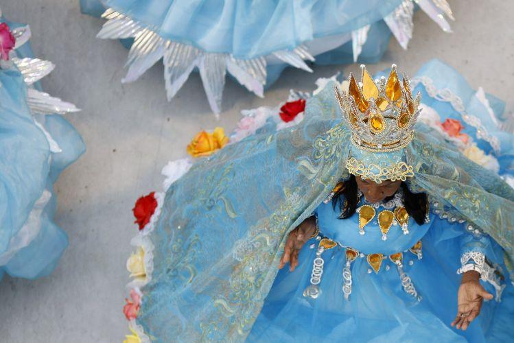 Integrante da ala das baianas da Beija-Flor de Nilópolis.Escola apresentou o samba-enredo