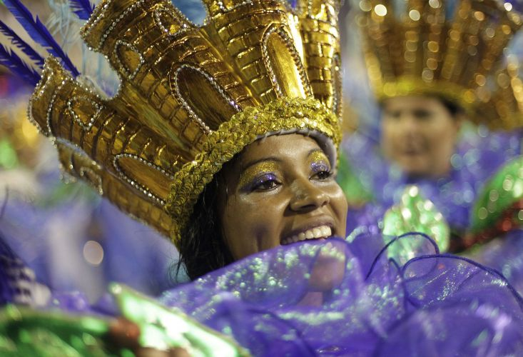 Integrante da Beija-Flor de Nilópolis.Escola apresentou o samba-enredo