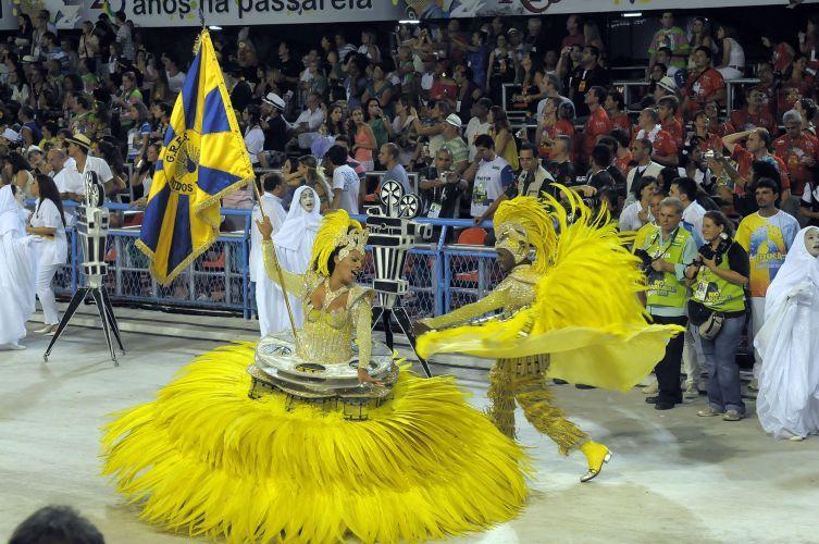 Mestre-sala e porta-bandeira da Unidos da Tijuca (06/03/2011)