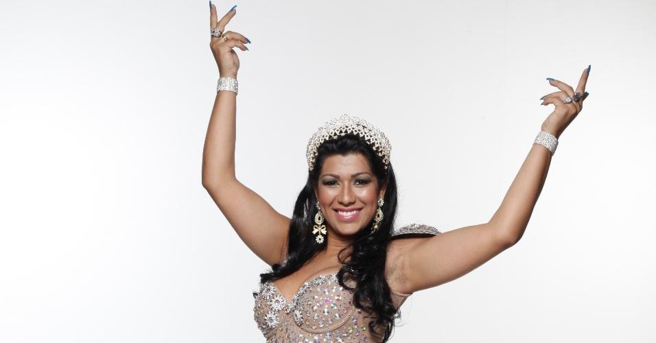 Mulher Moranguinho irá desfilar em 2012 na escola de samba paulistana Camisa Verde e Branco