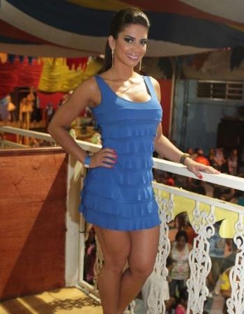 Graciella Carvalho, vice do Miss Bumbum, participou neste sábado (14) de ensaio técnico da Acadêmicos do Tucuruvi. A bela será destaque da escola de samba no desfile deste ano.