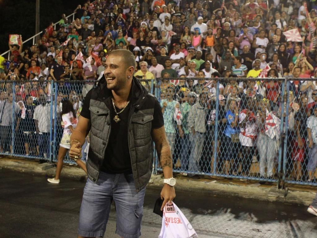 O cantor Diogo Nogueira participou de ensaio técnico do Salgueiro neste domingo (28/01/12) na Sapucaí
