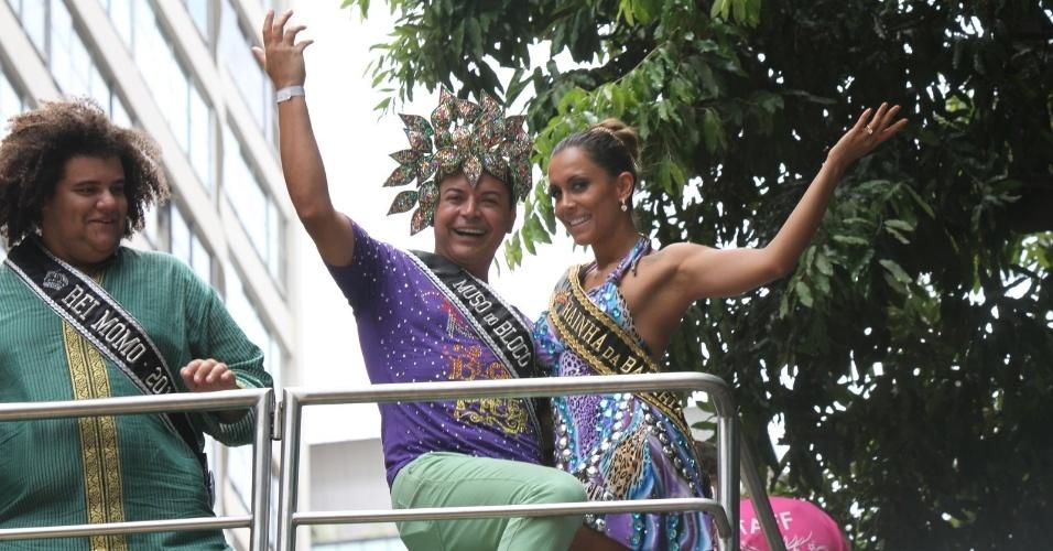 David Brazil posou para fotos com a ex-BBB Lia Khey durante o