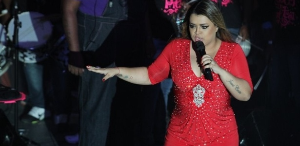 O Bloco da Preta, da cantora Preta Gil, se apresentou na quadra do Salgueiro nesta quarta-feira, no Rio de Janeiro (15/2/12)