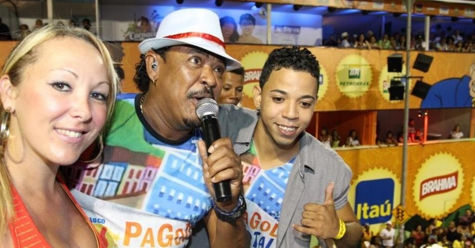 Compadre Washington faz show sobre trio no circuito Campo Grande (Osmar), em Salvador (16/2/12)