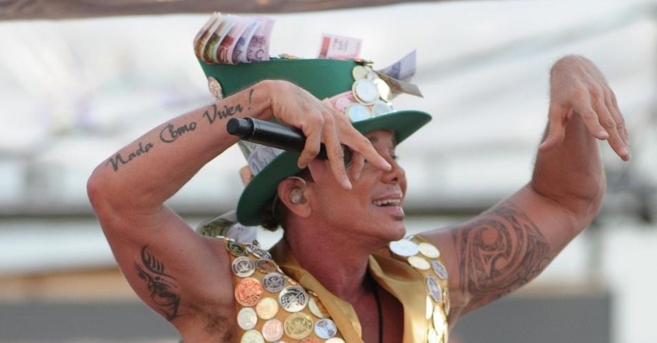 Netinho agita foliões no circuito Barra/Ondina (17/2/12)