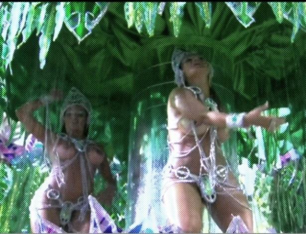 Carro da Vai-Vai mostra o paraíso de Adão e Eva (18/2/2012). Enredo traça a trajetória e evolução da mulher
