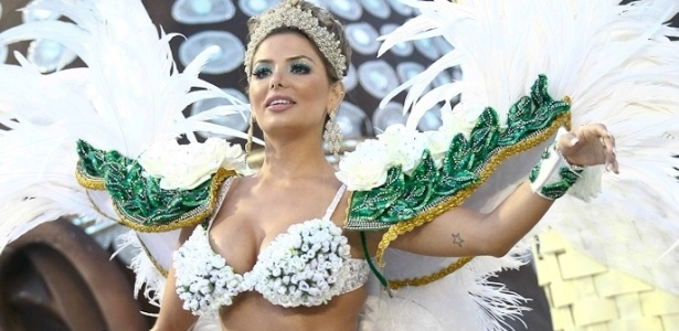 Tassiana Dunamis, Gata do Brasilerão do UOL, sai como destaque da escola de samba Mancha Verde