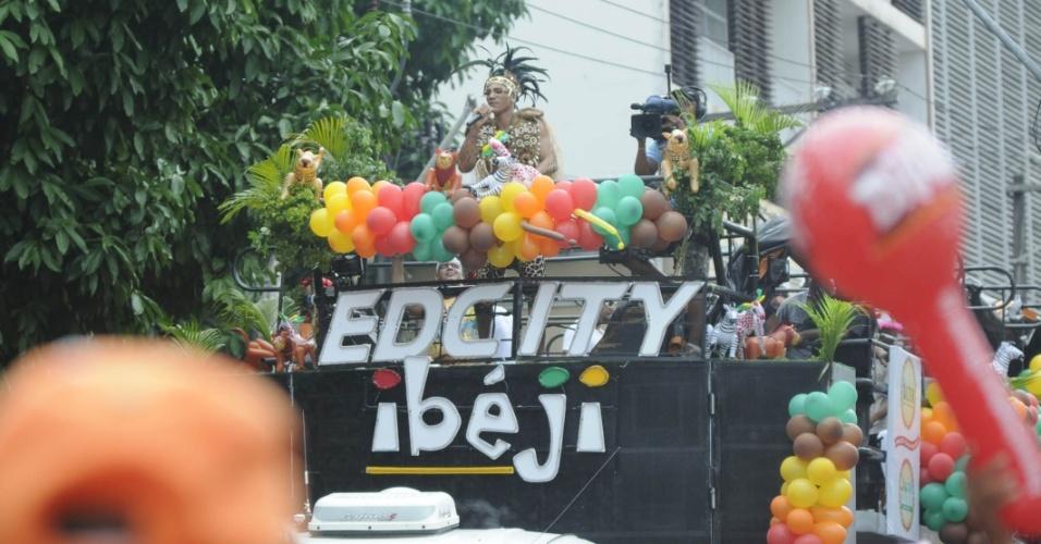 EdCity diverte foliões no circuito Campo Grande (Osmar), em Salvador (19/2/12)