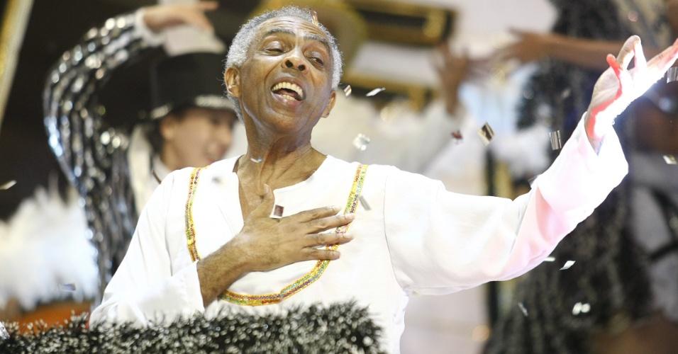 Gilberto Gil no desfile da Águia de Ouro