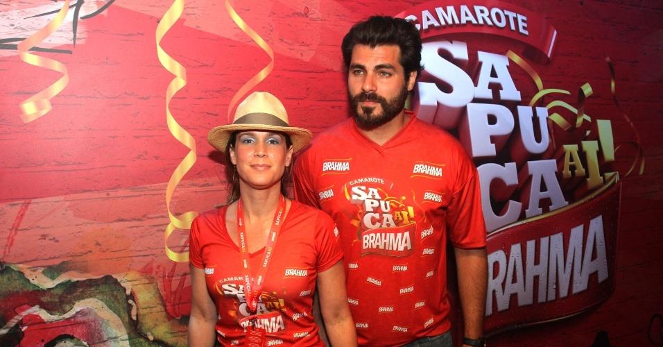 O ator Thiago Lacerda com a mulher, Vanessa Lóes