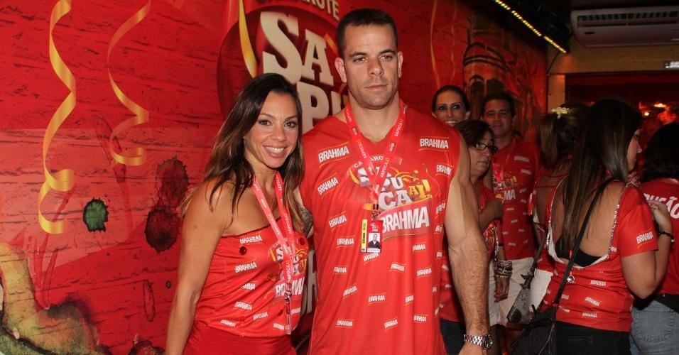 A atriz Carla Marins e o marido, Hugo Baltazar