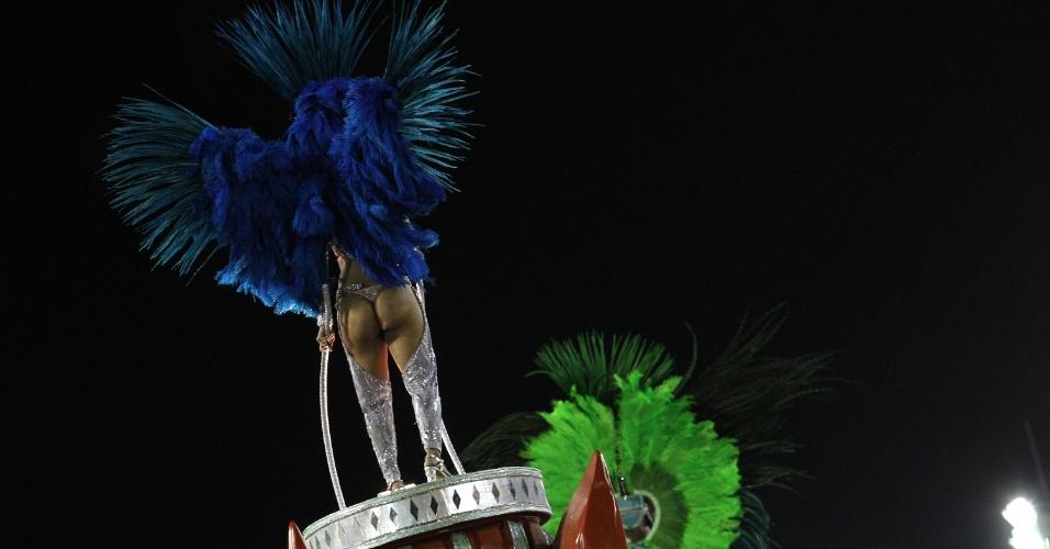 Detalhe de fantasia de destaque de carro da Unidos da Tijuca (21/2/2012)