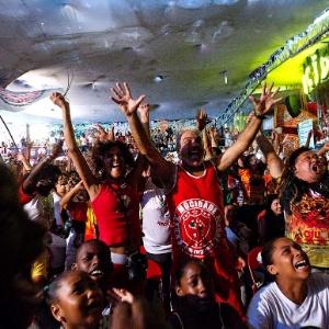 Mocidade Alegre faz festa na quadra da escola (Foto: )