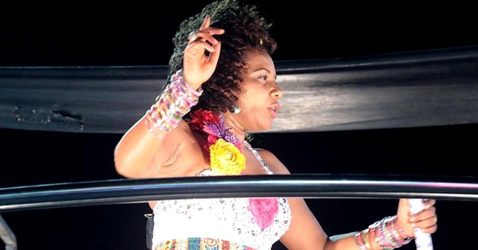 A cantora Margareth Menezes se apresentou na terça-feira (21/2/12) no circuito Barra-Ondina, em Salvador