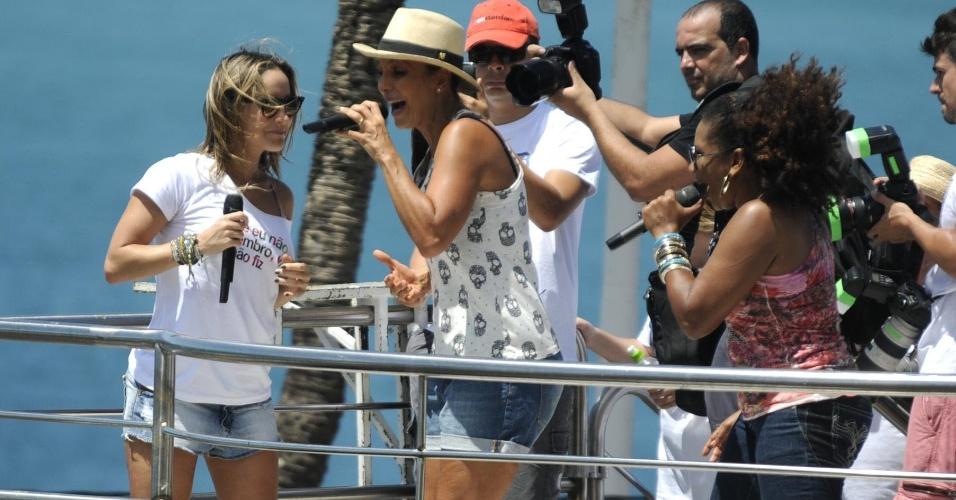 """Claudia Leitte, Ivete Sangalo e Margareth Menezes agitam o """"arrastão"""" no último dia de Carnaval (22/2/12)"""