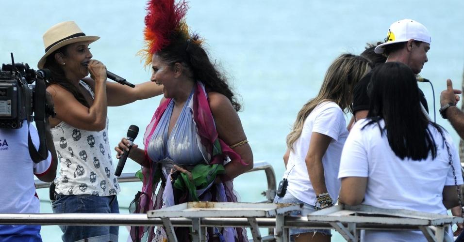 Ivete Sangalo e Fafá de Belém cantam no último dia do Carnaval de Salvador (22/2/12)