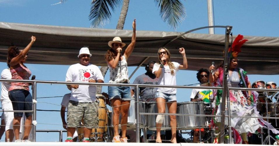 Margareth Menezes, Ivete Sangalo, Claudia Leitte e Fafá de Belém cantam juntas e agitam foliões no último dia de Carnaval em Salvador, Bahia (22/2/12)
