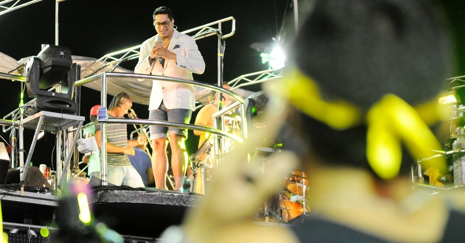 Xandy agitou os foliões na noite de terça-feira (21/2/12)